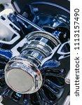 wheel disk of tractor or... | Shutterstock . vector #1113157490