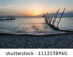 panorama of beautiful sunset at ... | Shutterstock . vector #1113158960
