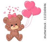 cute teddy bear card for... | Shutterstock .eps vector #1113160646