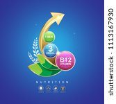 kids omega calcium and vitamin  ... | Shutterstock .eps vector #1113167930