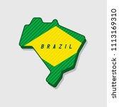 map of brazil modern 3d style. | Shutterstock .eps vector #1113169310