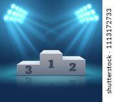 sports winner empty podium... | Shutterstock . vector #1113172733
