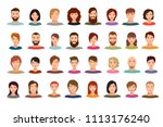 women and men business people... | Shutterstock . vector #1113176240
