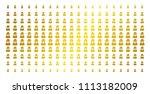 spy icon golden halftone... | Shutterstock .eps vector #1113182009
