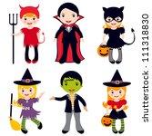 an illustration of kids in... | Shutterstock .eps vector #111318830