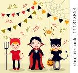 an illustration of halloween... | Shutterstock .eps vector #111318854