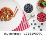 tasty natural and healthy... | Shutterstock . vector #1113190070