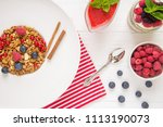 tasty natural and healthy... | Shutterstock . vector #1113190073