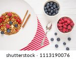 tasty natural and healthy... | Shutterstock . vector #1113190076