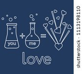 you and me and our chemistry of ... | Shutterstock .eps vector #1113198110