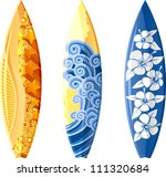 surfboards isolated on white.... | Shutterstock .eps vector #111320684