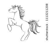 vector illustration of horse in ... | Shutterstock .eps vector #1113211208
