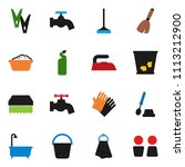 solid vector ixon set   broom... | Shutterstock .eps vector #1113212900