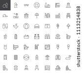 water park outline icons set.... | Shutterstock .eps vector #1113214838