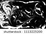 black and white liquid texture. ... | Shutterstock .eps vector #1113225200
