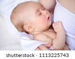 close up portrait of a sweet... | Shutterstock . vector #1113225743