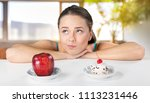 dieting or good health concept | Shutterstock . vector #1113231446