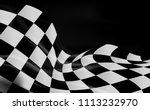 race flag checkered waving flag ... | Shutterstock .eps vector #1113232970