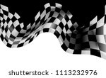 race flag checkered waving flag ... | Shutterstock .eps vector #1113232976