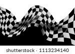 race flag checkered waving flag ... | Shutterstock .eps vector #1113234140