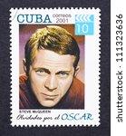 cuba   circa 2001  a postage... | Shutterstock . vector #111323636