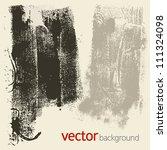 grunge textures  vector set 4 | Shutterstock .eps vector #111324098