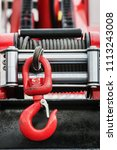 winch with hook for self... | Shutterstock . vector #1113243008