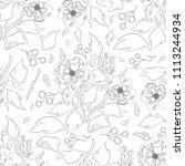 vector seamless pattern  line... | Shutterstock .eps vector #1113244934