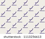 endless repeating lilac... | Shutterstock . vector #1113256613