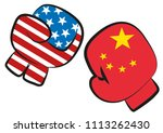 usa china trade war conflict... | Shutterstock .eps vector #1113262430