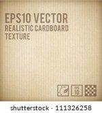 cardboard texture | Shutterstock .eps vector #111326258