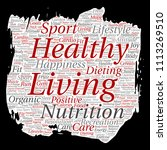 vector conceptual healthy... | Shutterstock .eps vector #1113269510