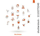 christmas and winter icons... | Shutterstock .eps vector #1113275240