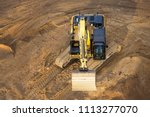 Small photo of top view of a digger