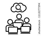 researchers icon  vector... | Shutterstock .eps vector #1113277394