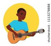 musician playing guitar....   Shutterstock .eps vector #1113278888