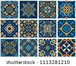 vector tiles patterns. seamless ... | Shutterstock .eps vector #1113281210