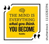 vector quote. the mind is... | Shutterstock .eps vector #1113282596