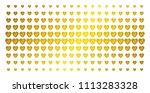 cardiology icon gold colored... | Shutterstock .eps vector #1113283328