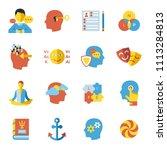 digital vector neuro linguistic ... | Shutterstock .eps vector #1113284813