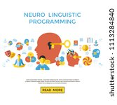 digital vector neuro linguistic ... | Shutterstock .eps vector #1113284840
