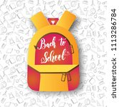 backpack and hand made... | Shutterstock .eps vector #1113286784