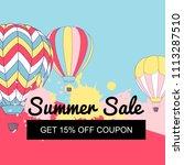 vector illustration  summer... | Shutterstock .eps vector #1113287510
