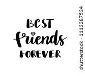 best friends forever postcard....   Shutterstock .eps vector #1113287534
