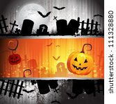 halloween card design with... | Shutterstock . vector #111328880