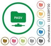 ftp enter passive mode flat... | Shutterstock .eps vector #1113289730
