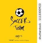 sport poster   sketchy leisure... | Shutterstock .eps vector #1113300923
