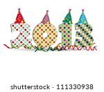 cute card on new year 2013 with ...   Shutterstock .eps vector #111330938