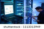 concept is business cloud... | Shutterstock . vector #1113313949