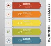 5 steps of arrow infographics... | Shutterstock .eps vector #1113322883